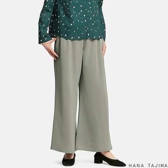 Uniqlo Women's Hpj Satin Wide Ankle-length Pants