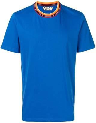 Marni contrast collar T-shirt