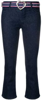 Love Moschino cropped flared trousers
