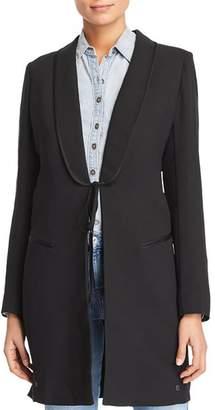 Scotch & Soda Long Tie Front Blazer