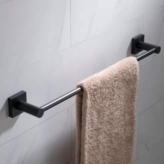 Kraus KRAUS Ventus 18-inch Bathroom Towel Bar, Matte Black Finish