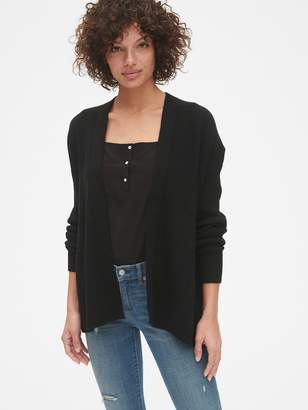 cf3481c5ca Gap True Soft Mix-Stitch Relaxed Open-Front Cardigan Sweater