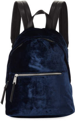 French Connection Jace Velvet Zip-Around Backpack, Navy