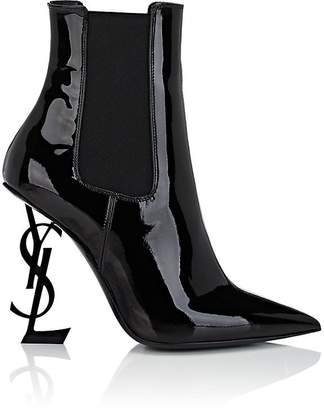 Saint Laurent Women's Opyum Patent Leather Ankle Boots