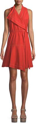 Derek Lam 10 Crosby Sleeveless Cotton Wrap Dress