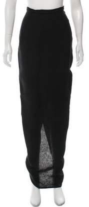 Rick Owens Tailored Pillar Maxi Skirt