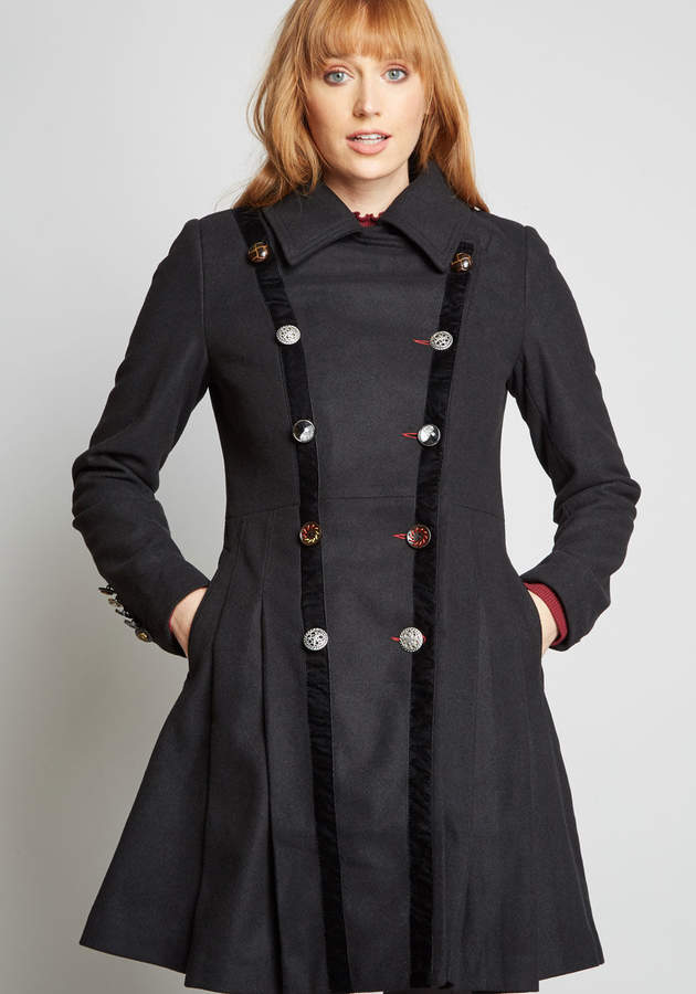 Joe Brown Ltd Boldly Buttoned Fit and Flare Coat