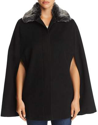 Helene Berman Faux Fur-Collar Cape - 100% Exclusive