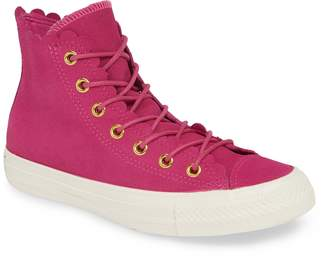 c86310cb2c4006 Converse Chuck Taylor(R) All Star(R) Scallop High Top Suede Sneaker