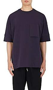 Helmut Lang Men's Oversized Stretch-Cotton Micro-Terry T-Shirt - Navy