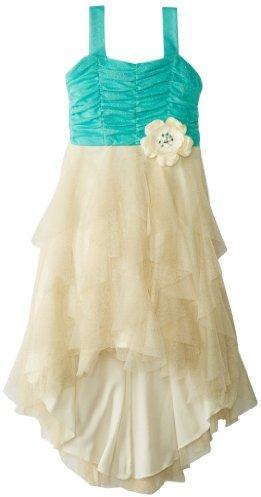 Rare Editions Big Girls' Cascade High-Low Dress