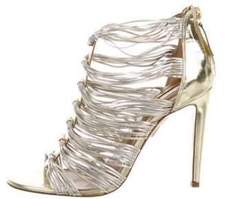 Aquazzura Xena Metallic Sandals