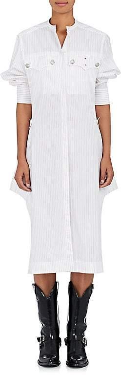CALVIN KLEIN 205W39NYC Women's Striped Cotton Poplin Shirtdress