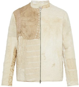 By Walid Victorian Textile Panelled Jacket - Mens - Beige Multi