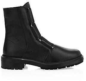 Aquatalia Women's Liv Tumbled Leather Combat Boots