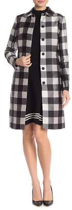 Anne Klein Checkered Peter Pan Collared Jacket