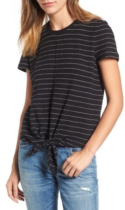 Women's Madewell Modern Tie Front Tee $42 thestylecure.com