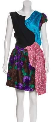 Michael Van Der Ham Knee-Length Patchwork Dress