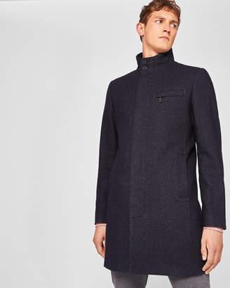 Ted Baker MARVIN Funnel neck textured coat