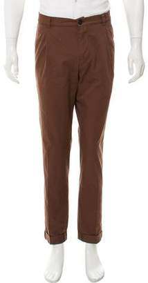 Brunello Cucinelli Cropped Flat Front Casual Pants