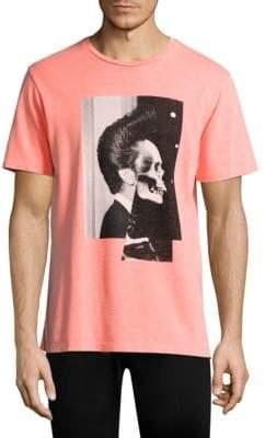 The Kooples Pink Skull Graphic Shirt