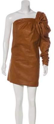 Saint Laurent 2017 Leather Mini Dress