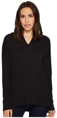 Mod-o-doc Soft as Cashmere Knit Boxy Pullover Hoodie Women's Sweatshirt