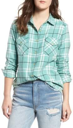 RVCA In a Haze Plaid Cotton Shirt
