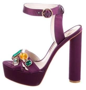 Sophia Webster Satin Platform Sandals