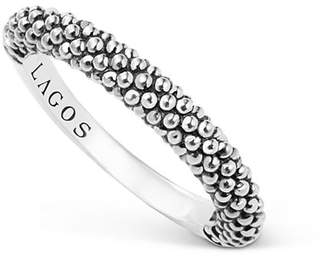Lagos Sterling Silver Caviar Beaded Stacking Ring