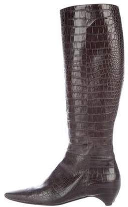 Christian Dior Flight Knee-High Alligator Boots