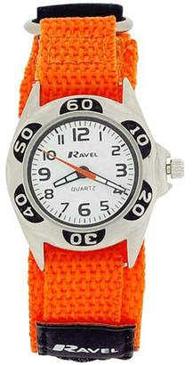 Ravel Boys Quartz Dial Black & Orange Easy Fasten Boys Watch R1507.48