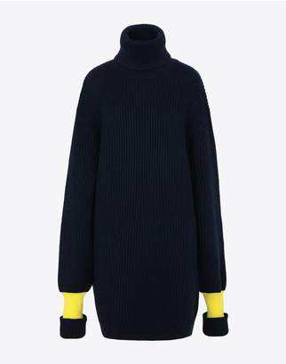 Maison Margiela Two-Tone Wool-Blend Knitted Jumper
