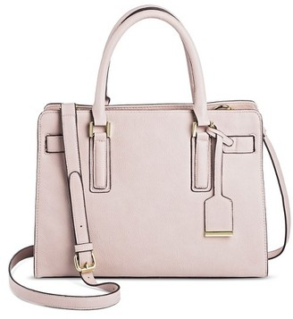 Women's Faux Leather Belted Tote with Crossbody Strap - Merona $39.99 thestylecure.com