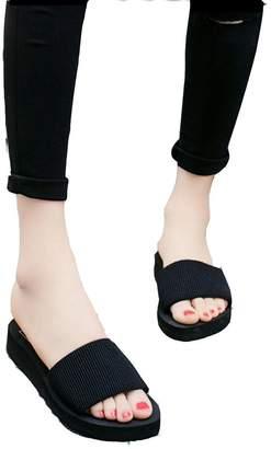 700cdfe61afd0 ... at Amazon Canada · T-JULY Women Summer Beach Wedge Platform High Heels  Slide Sandals ...