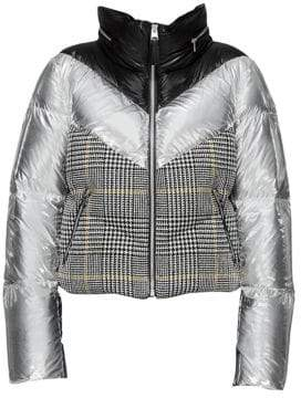 Mackage Prince of Wales& Metallic Puffer Jacket