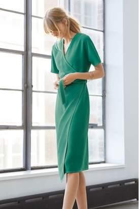 Next Womens Jade Crepe Wrap Dress