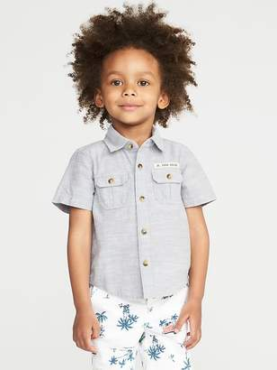 Old Navy Graphic Utility-Pocket Shirt for Toddler Boys