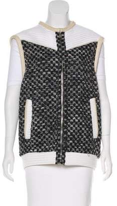 IRO Suede-Trimmed Knit Vest