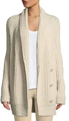 Vince Shawl-Collar Wool-Blend Cardigan