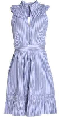 Alexis Woman Wrap-effect Cotton-jacquard Mini Dress Light Blue Size L Alexis 0cevkh8C2V