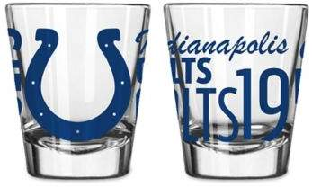 Boelter NFL Indianapolis Colts 2-Pack Shot Glass Set