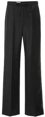 Jil Sander Wool and mohair wide-leg pants