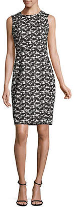 Calvin Klein Sleeveless Printed Sheath Dress