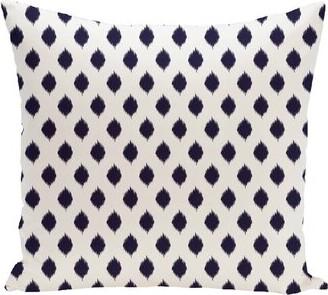 e by design Cop-Ikat Geometric Print Outdoor Throw Pillow e by design