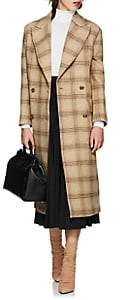 MM6 MAISON MARGIELA Women's Convertible Checked Wool Coat - Beige, Tan