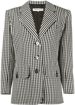 Saint Laurent Pre-Owned 1980's gingham blazer