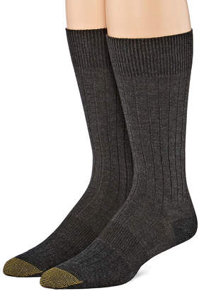 Gold Toe 2 Pair Crew Socks-Mens