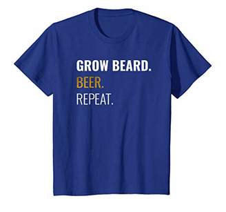 Grow Beard Beer Repeat Shirt For Beer and Beard Lovers