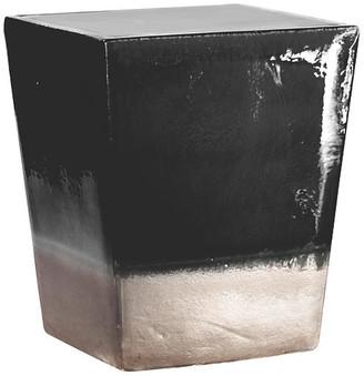 Tacitus Square Cube Stool - Black - Seasonal Living
